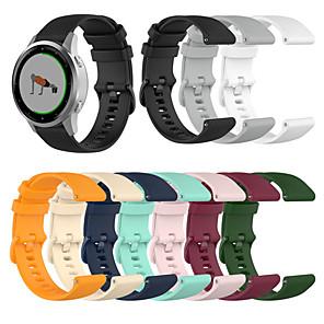 Недорогие Часы и ремешки Garmin-Наручный ремешок с ремешком для часов 18 мм с небольшим пледом для garmin vivoactive 4s / vivomove 3s
