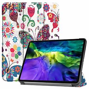 ieftine Carcase iPad-carcasă pentru pro 11 '' (2020) / ipad 10.2 '' (2019) / ipad air3 10.5 '(2019) rezistent la șocuri / cu suport / flip carcase pentru corp complet fluture pu piele pentru ipad (2017) / ipad mini 5/4