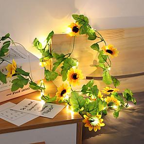 ieftine Fâșii Becurie LED-2.5m Fâșii de Iluminat 20 LED-uri 1 buc Alb Cald Ziua îndragostiților Anul Nou Model nou Petrecere Decorativ Baterii AA alimentate