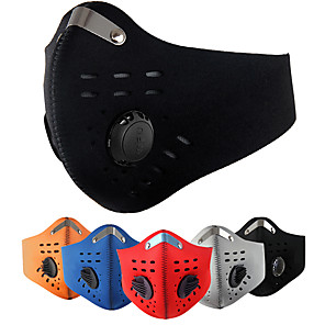 ieftine lanterne-XINTOWN Mască sport Face Mask Mască semi-față cu filtru neopren Ajustabile Impermeabil Rezistent la Vânt Respirabil Anti-Ceață Bicicletă / Ciclism Negru / Roșu Negru / portocaliu Roșu-aprins Carbon