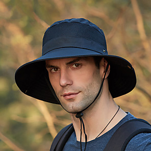 ieftine Pălării, Șepci & Bandane-Bărbați Pentru femei Căciulă Soare Pălărie de pescuit Pălăria pescăresc Καπέλο πεζοπορίας 1 piese Wide Brim Vară Iarnă În aer liber Portabil Cremă Cu Protecție Solară Rezistent la UV Respirabil