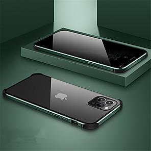 Недорогие Чехол Samsung-магнитный чехол для iphone 11/11 pro / 11 pro max anti peep case конфиденциальность двусторонний чехол 360 защита чехол из закаленного стекла 360 защитный чехол