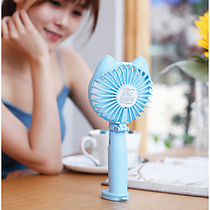 ZQ 180/°rotatable Portable USB Handheld Small Fan,Mini with Dock Desktop Portable Ultra-Quiet Small Fan,Light Blue