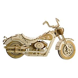 hesapli Ekran Modelleri-3D Yapbozlar Ahşap Yapbozlar Oyuncak Motosikletler Yaratıcı Kendin-Yap eğitici Ahşap 158 pcs Motosiklet Genç Erkek Çocuklar için Yetişkin Hediye