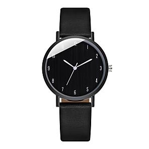 ieftine Cuarț ceasuri-Pentru femei Quartz Modă Negru Alb PU piele Chineză Quartz Argintiu+gri Alb Negru Ceas Casual Analog Un an Durată de Viaţă Baterie