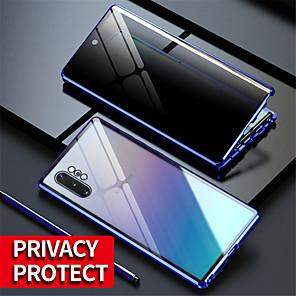 Недорогие Чехол Samsung-магнитный чехол с защитой от глаз для samsung galaxy s20ultra / s20plus / s20 / a70 / a50 / a50s / a30s / note 8 / note 9 / note10 note 10plus / s10 / s9 / s8plus стеклянный анти-espial