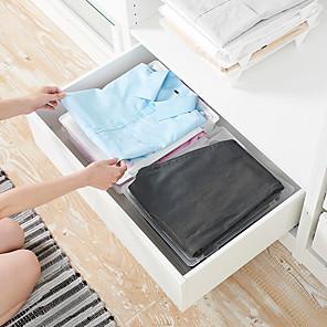 ieftine Cutii Depozitare Bucătărie-dulap de plastic organizatori dreptunghi nou design organizare acasă depozitare depozitare stivuire haine de depozitare dulap dulap de depozitare 1 buc 35 * 29 * 5cm
