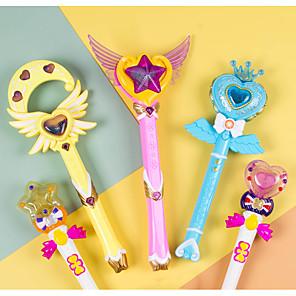 ieftine Jucării Novelty-Stick De Lumină LED Temă Basme Prinţesă Băț magic Jucării luminoase Baghetă Magică Transformabil Multimodal Muzică și lumină Pentru copii pentru cadouri de naștere și favoruri pentru petreceri