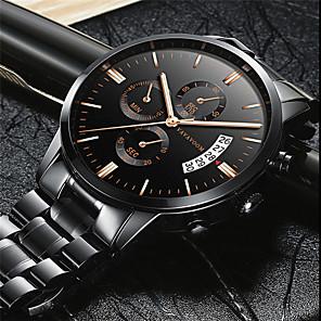 ieftine Ceasuri Curele din Piele-Bărbați Ceas Elegant Quartz Modă Rezistent la Apă Oțel inoxidabil Analog - Negru / Argintiu Negru+Auriu Alb + argintiu Un an Durată de Viaţă Baterie / Calendar