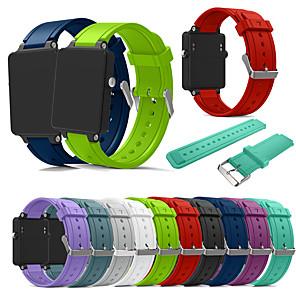 Недорогие Часы и ремешки Garmin-Ремешок для часов для Vivoactive Acetate Garmin Спортивный ремешок силиконовый Повязка на запястье