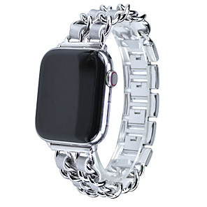Недорогие Ремешки для Apple Watch-ремешок для часов Apple серии 5/4/3/2/1 из нержавеющей стали с кожаным ремешком