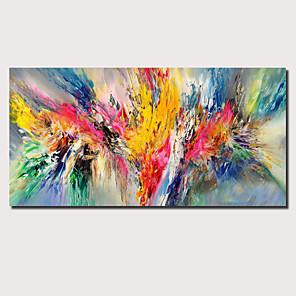 povoljno Bojano-Hang oslikana uljanim bojama Ručno oslikana - Sažetak Cvjetni / Botanički Comtemporary Moderna Uključi Unutarnji okvir