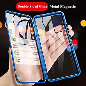 Недорогие Чехол Samsung-магнитный чехол для samsung galaxy a81 a91 a71 a51 a31 a11 a10 s20 s20 plus s20 ultra s10 s10e s10 lite s10 plus металлический двухсторонний закаленное стекло защитный чехол чехол для телефона