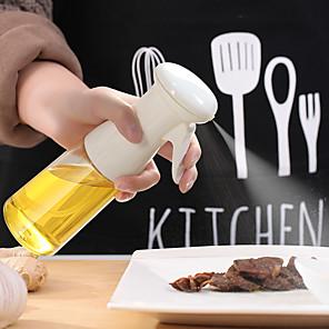 ieftine Cutii Depozitare Bucătărie-Pulverizator cu ulei 210ml pentru gătit, pulverizator cu ulei de măsline, sticlă spray cu ulei de măsline, distribuitor ulei de măsline pentru salată, grătar, coacere bucătărie, prăjire, plastic 1 buc