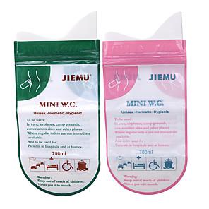 ieftine Genți Călătorie-4pcs sac de urină convenabil sac de urină de unică folosință în aer liber călătorie de urgență copil adult unisex toaletă urină voma saci