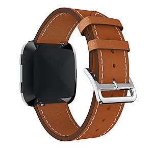 hesapli Saat Kordonları-Gerçek Deri Watch Band kayış için Fitbit Versa 20cm / 7.9 İnç 2.3cm / 0.91 İnç