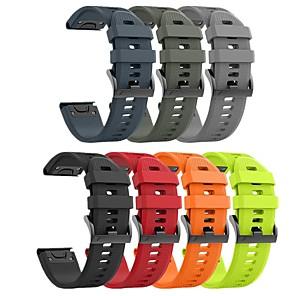 Недорогие Часы и ремешки Garmin-smartwatch band для garmin fenix 6x6 6 pro 5 5 plus 5x 3 3hr forerunner935 945 s60 d2 sport band мягкий удобный силиконовый ремешок quickfit для запястья