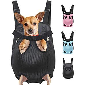 hesapli Köpek Evcil HayvanBakım Ürünleri-Kedi Köpek Taşıyıcı & Seyahat Sırt Çantaları ön Sırt Çantası Taşınabilir Nefes Alabilir Solid Polyester Leopar Siyah Mor