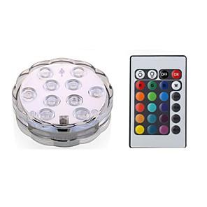 ieftine Aplice de Exterior-1 buc 3 W Lumini Subacvatice Rezistent la apă / Controlat de la distanță / Decorativ RGB 5.5 V Piscina / Potrivit pentru vase și acvariu 10 LED-uri de margele