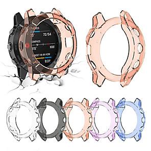 hesapli Smartwatch Kılıfları-Ultra ince kılıf kapak için garmin fenix 6 / fenix 6 pro yumuşak kristal temizle tpu koruyucu kılıf kapak için garmin fenix 6 / fenix 6 pro / fenix 6 s / fenix 6 s pro / fenix 6x / fenix 6x pro
