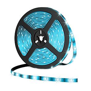 ieftine Benzi Lumină LED-1m Fâșii De Becuri LEd Flexibile 60 LED-uri 5050 SMD 10mm 1 buc Alb Cald Alb Rece Roșu Ce poate fi Tăiat De Legat Potrivite Pentru Autovehicule 12 V / Auto- Adeziv