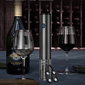 ieftine Produse de Bar-deschizător de vin electric sticlă automată pentru tirbușă cu tăietură de folie usb cablu de încărcare inox