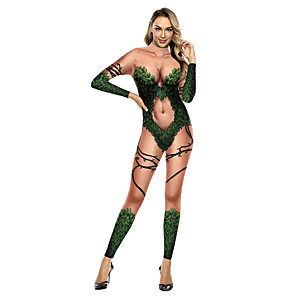ieftine Costume Sexy-Costume Zentai Costum Costum Pisică Costum de piele Ninja Adulți Costume Cosplay Ultra Sexy Bărbați Pentru femei Imprimare Halloween Carnaval Mascaradă / Leotard / Onesie
