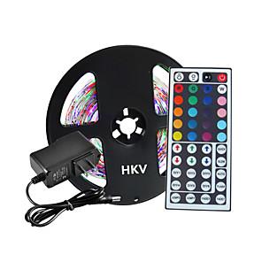 ieftine Benzi Lumină LED-HKV 5m lumini flexibile cu bandă led RGB tiktok lumini 300 leduri 2835 smd 8mm 12 v 1 buc