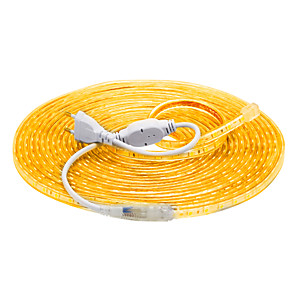 hesapli LED Şerit Işıklar-10m Esnek LED Şerit Işıklar 600 LED'ler 5050 SMD Sıcak Beyaz Beyaz Kırmızı Su Geçirmez Kesilebilir Tatil 220-240 V
