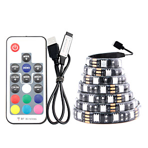 ieftine Benzi Lumină LED-5m Bare De Becuri LED Rigide 150 LED-uri SMD5050 1set RGB Rezistent la apă USB Petrecere 5 V Alimentat USB