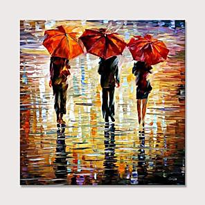 povoljno Bojano-ručno oslikana zidna umjetnost za ljude iz dnevnog boravka u kiši šareno ulje na platnu ukras plakata za dekor doma bez okvira