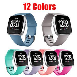 Недорогие Ремешки для Apple Watch-Ремешок для часов для Fitbit Versa / Fitbi Versa Lite / Fitbit Versa2 Fitbit Современная застежка силиконовый Повязка на запястье