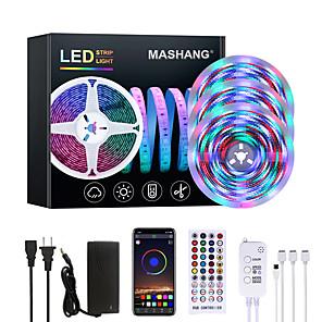 ieftine Benzi Lumină LED-mashang luminoase luminoase LED-uri rgbw benzi impermeabile 15m muzică sincronizare inteligent led lumini tiktok 3510leds 2835 schimbare de culoare cu 40 de taste telecomandă bluetooth controler