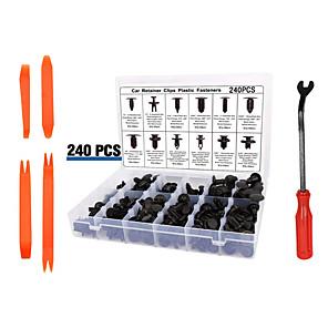 ieftine Stilou de Pictat Mașina-Nituri din plastic cu bucla de 240pcs 12 tipuri de elemente de fixare obișnuite pentru bara de protecție a panoului decorativ
