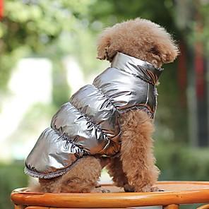 povoljno Odjeća za psa i dodaci-Pas Kaputi Hoodies Vodootporno Vanjski Zima Odjeća za psa Brown-Gold Crn Crvena Kostim Flis Terilen XS S M L XL XXL