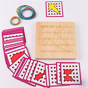 hesapli İnşaat ve Bloklar-Montessori Eğitim Araçları Legolar Yapboz Yerleştirme Bulmacaları Eğitici Oyuncak Dörtgen Eğitim Çocuklar için Oyuncaklar Hediye