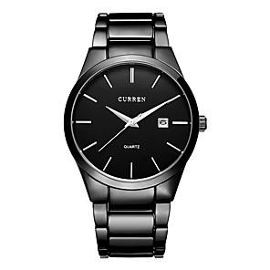 ieftine Ceasuri pt Rochii-CURREN Bărbați Ceas Elegant Ceas Brățară Quartz Clasic Rezistent la Apă Negru / Alb Analog - Negru Negru / Alb Argintiu / negru / Oțel inoxidabil / Calendar / Mare Dial