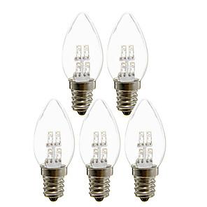 ieftine Becuri LED Lumânare-5 buc 1 lumini lumânare led 25 lm e12 c35 4 leduri mărgele led led alb cald cald 180-265 v