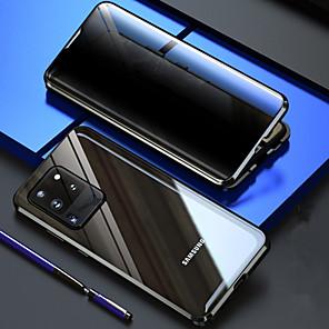 Недорогие Чехол Samsung-конфиденциальность двусторонний магнитный чехол с полной крышкой 360 для samsung galaxy s20 plus Прозрачное 9