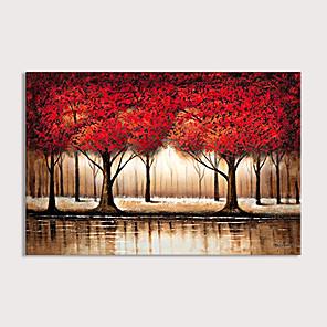 povoljno Bojano-velika apstraktna šuma zidna umjetnost ručno oslikana modernom crvenom bojom stabla ulje na platnu