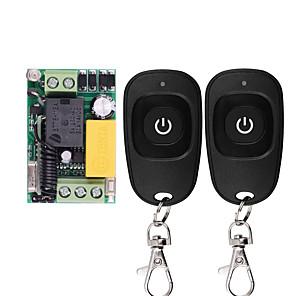 ieftine Componente DIY-Telecomandore mini comutare wireless waterproof rf alb pentru emițător-releu receptor 220-v