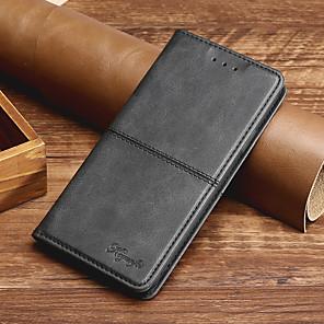 Недорогие Чехлы и кейсы для Galaxy A8-Кейс для Назначение SSamsung Galaxy A8 2018 / A8(2016) / A8 Бумажник для карт / Флип / Магнитный Чехол Однотонный Кожа PU / ТПУ