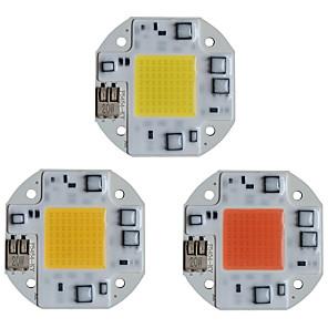 ieftine LED-uri-cip chip cob led led 110v 220v 20w 30w 50w 50w alb alb cald inteligent ic fara sudare nu este nevoie de sofer smd margele de lumina pentru lumina reflectoarelor lumina de exterior lampa diy iluminare