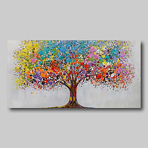 povoljno Bojano-uljana slika ručno oslikana - apstraktni apstraktni pejzaž, savremena moderna velika valjana platna životna stabla