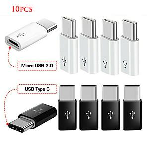 ieftine USB-uri-10 buc Android micro usb adaptor usb femelă la mascul tip-c conector adaptor micro-b la usb-c conector cablu de încărcare