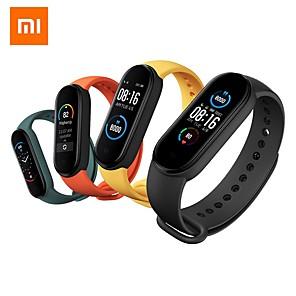 Недорогие Ремешки для часов Xiaomi-Оригинал xiaomi mi band 5 умный браслет 1.1 amoled цветной экран фитнес-трекер фитнес-трекер bluetooth 5.0 водонепроницаемый ми группа 5-китай версон