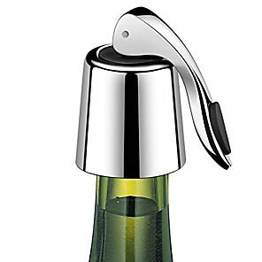 ieftine Produse de Bar-dop de sticlă cu dop din oțel inoxidabil reutilizabil pentru economisirea vinului 1 buc