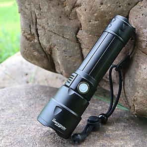 ieftine lanterne-Lanterne LED Rezistent la apă LED emițători 3 Mod Zbor cu Baterie și Cablu USB Rezistent la apă Portabil Ajustabil LED Camping / Cățărare / Speologie Utilizare Zilnică Ciclism USB Alb Rece Culoare