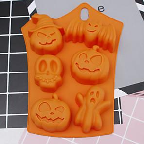 ieftine Ustensile & Gadget-uri de Copt-mucegai de silicon de Halloween 6 cavități dovleac forma bat bat cookie cookie-uri forme de ciocolată