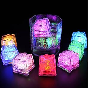 ledet isbiter lys multi farge for drikke vinfest bryllupsdekorasjon 12stk